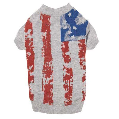 Zack and Zoey America's Pup Flag Print Dog Tee