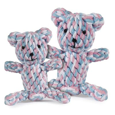 Zanies Rope Bear Dog Toy in Pink