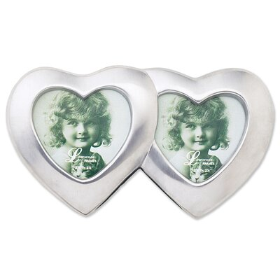 Metal Double Heart Picture Frame