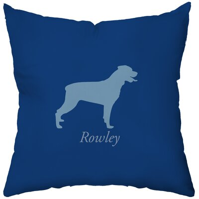 Checkerboard Personalized Rottweiler Poly Cotton Throw Pillow