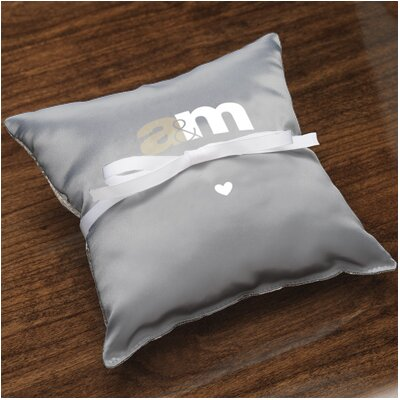 Checkerboard Personalized Unity Ring Pillow