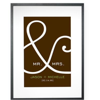 Checkerboard Personalized Mr. and Mrs Wall Décor