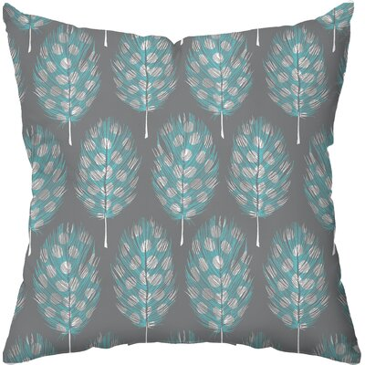 Checkerboard Guinea Feathers Poly Cotton Outdoor Throw Pillow