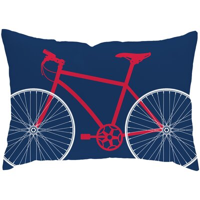 Checkerboard Bicycle Poly Cotton Throw Pillow