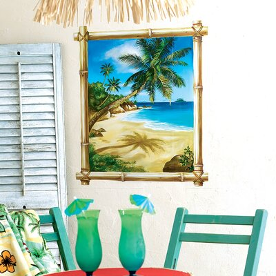Wallies Tropical Window Wallpaper Mural