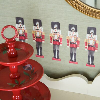 Wallies Nutcrackers Peel and Stick Holiday Vinyl Decals