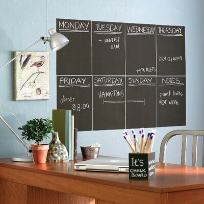 Wallies Slate Gray Chalkboard - 4 Sheet Vinyl Peel and Stick