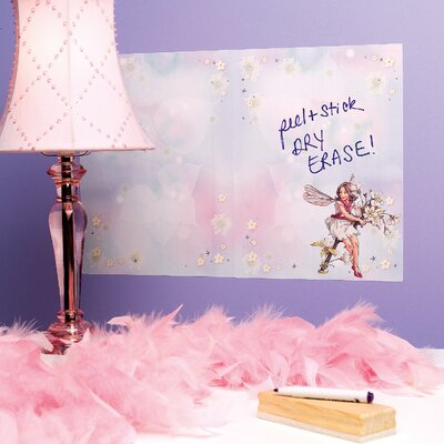 Wallies Flower Fairies Dry Erase - 2 Sheet Vinyl Peel and Stick