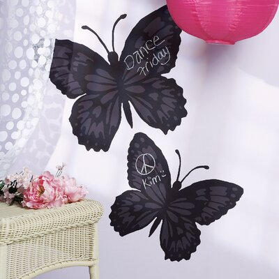 Wallies Butterfly Chalkboard Vinyl Peel and Stick Mural