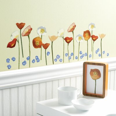 Wallies Springtime Poppies Vinyl Wall Decals