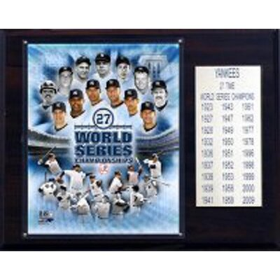 C & I Collectibles MLB Yankees 27 Time World Series Champions Plaque