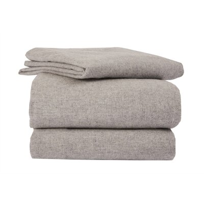 Heather Solid Flannel Sheet Set