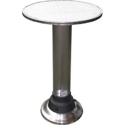 Pub Table with Built-In Electric Heater