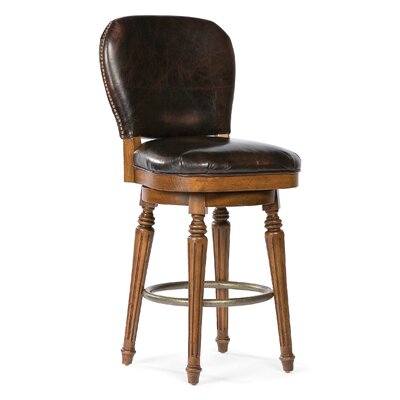 Fairfield Chair Leather Swivel Counter Stool