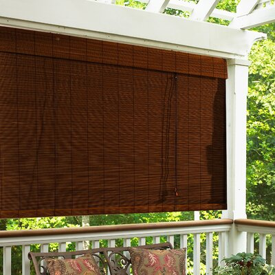 Radiance Imperial Matchstick Bamboo Roll-Up Blind with 6&quot; Valance in Cocoa