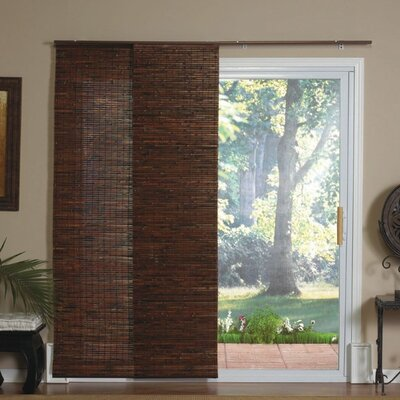 Radiance Panel Track Bamboo Blind in Java Mahogany