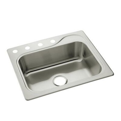 "Sterling by Kohler Southhaven 25"" x 22"" Single Bowl 4-Hole Stainless Steel Kitchen Sink"