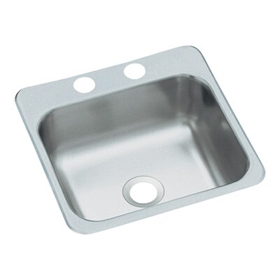 Sterling by Kohler 2-Hole Self Rimming Single Bowl Entertainment Sink