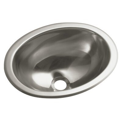 Entertainment No Hole Oval Undermount / Self Rimming Bathroom Sink - 11811-0