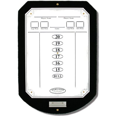 Black ScoreStation with White Dry-Erase Surface
