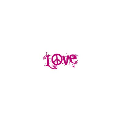 ADZif Blabla Peace and Love Wall Decal