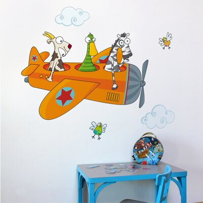ADZif Ludo Friends in Flight Wall Decal
