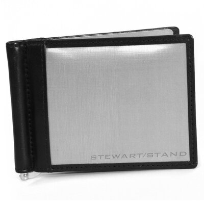 Stewart/Stand Leather Accent Money Clip Bill Fold Wallet