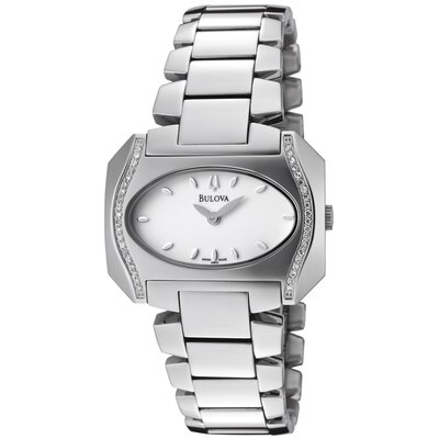 Bulova Women's Diamond White Dial Watch