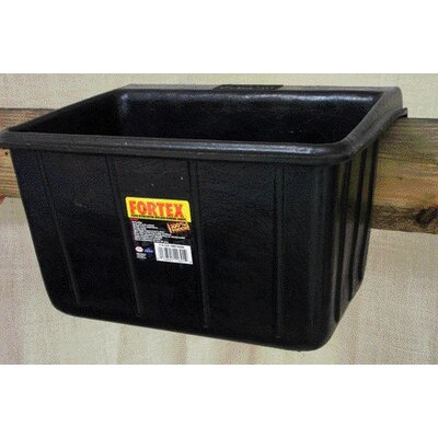 Fortex Industries Inc Rubber Fence Feeder in Black