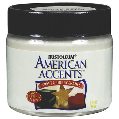 AmericanAccents American Accents® Blossom White Craft and Hobby Brush Enamel Paint