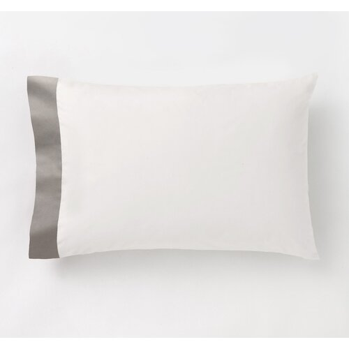 DwellStudio Modern Border Smoke Pillowcase (Set of 2)