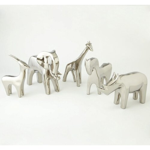 DwellStudio Elephant Objet in Silver