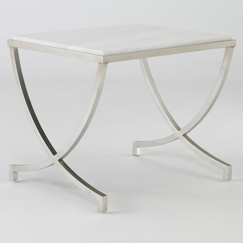 DwellStudio Haviland Table in Silver Leaf