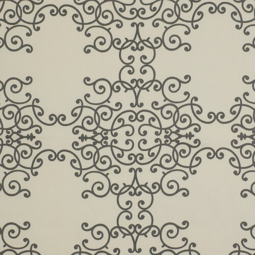 DwellStudio Soft Scrolls Fabric - Charcoal