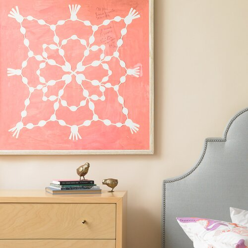 DwellStudio Paule Marrot Pink Maze Artwork Framed Print