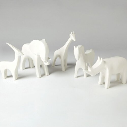 DwellStudio Giraffe Objet in White