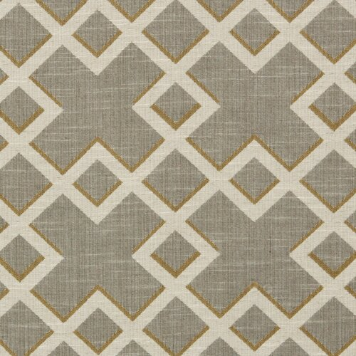 DwellStudio Shadow Trellis Fabric - Citrine