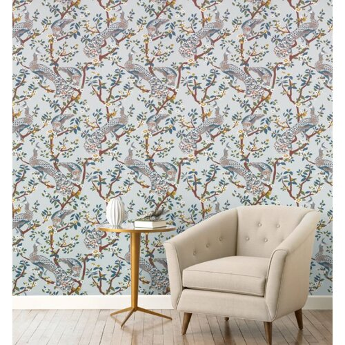 DwellStudio Vintage Plumes Jade Wallpaper