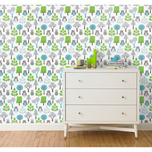 DwellStudio Owls Sky Wallpaper