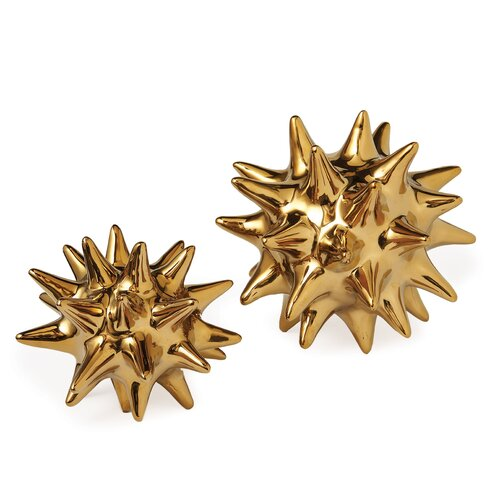 DwellStudio Urchin Objet in Shiny Gold
