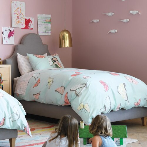 DwellStudio Butterfly Robin's Egg Duvet Set