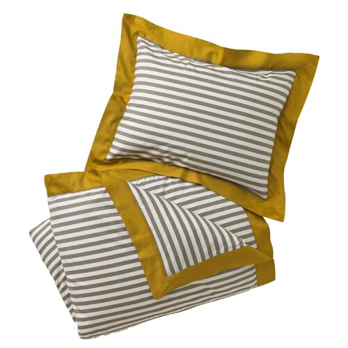 DwellStudio Draper Stripe Ash Duvet Set