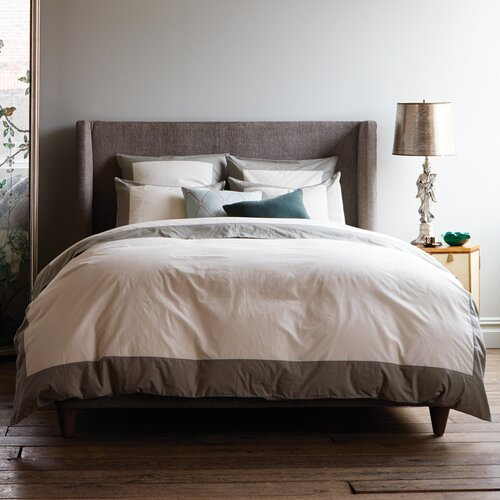 DwellStudio Modern Border Smoke Duvet Set