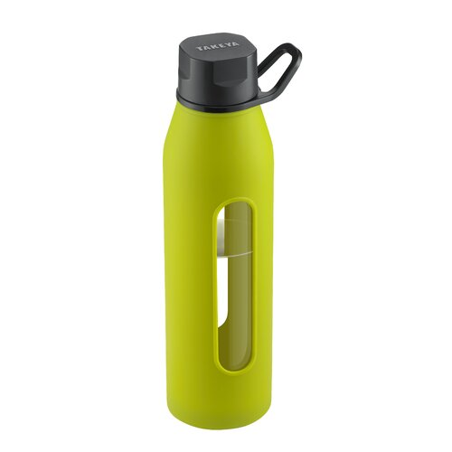 takeya 22 oz classic glass water bottle with