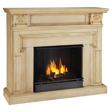 Kristine Gel Fuel Fireplace in Antique White