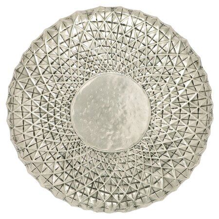 Classy Round Wall Décor in Silver