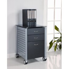 Filing Cabinet with Glass Top