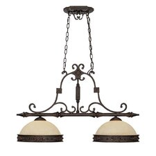 River Crest 2 Light Kitchen Island Pendant