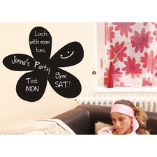 Flower Chalkboard Wall Decal