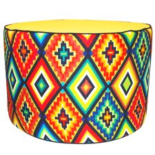 Tribal Pouf Cotton Ottoman